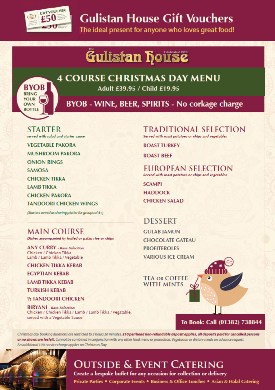 Christmas Day Menu 2018