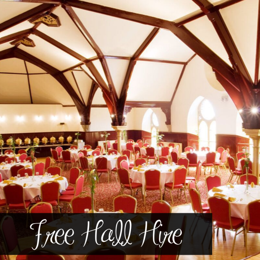 Free Hall Hire - T&C's apply!