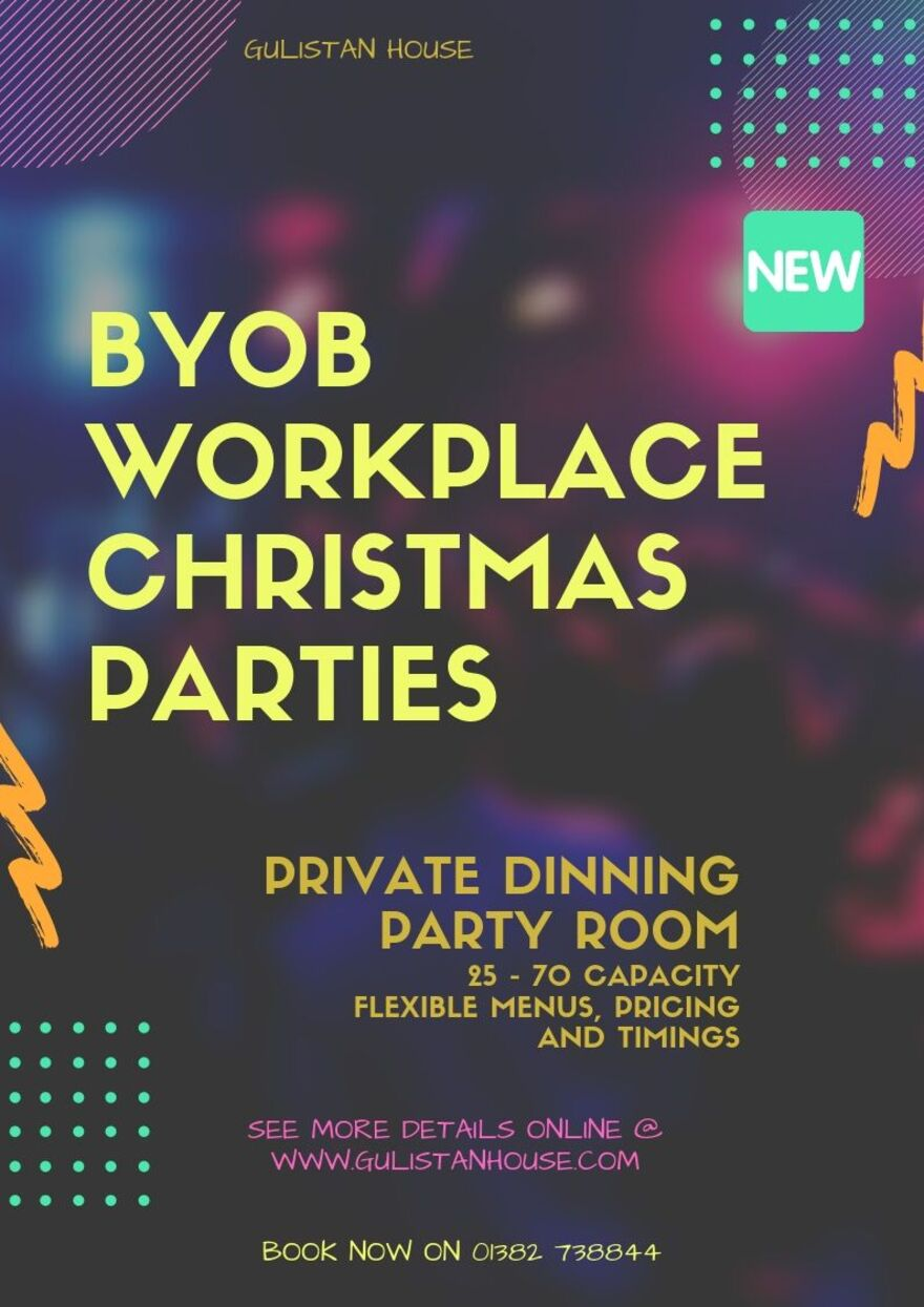 BYOB Workplace Parties! Private Dinning 2019